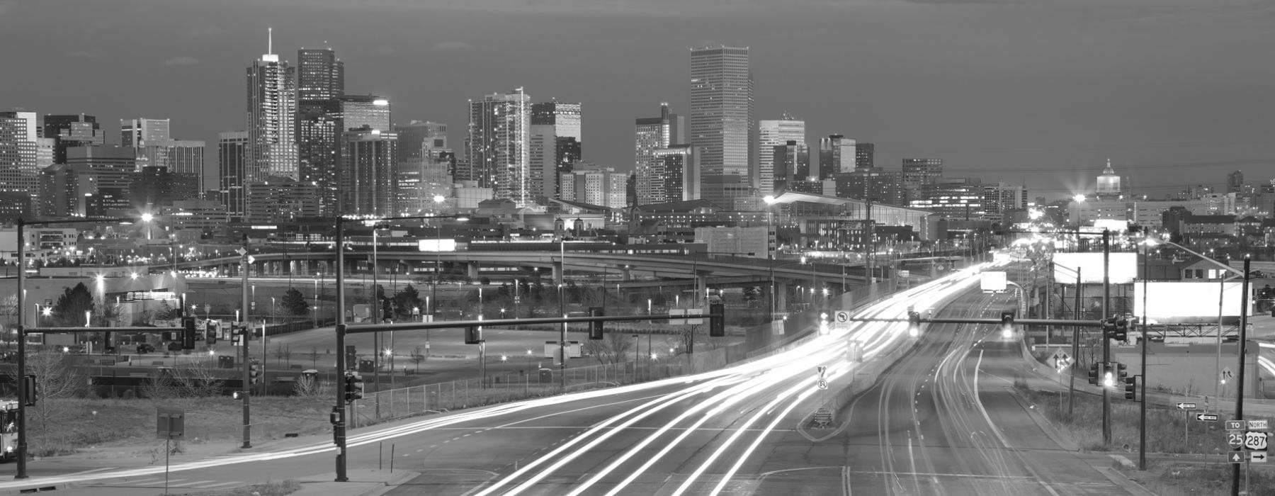 Denver traffic at night
